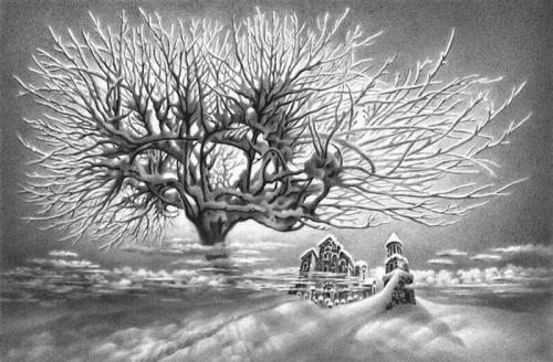 Зимние пейзажи. Гурам Доленджашвили (22 работ)