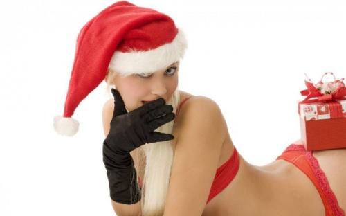 Сексуальные снегурочки 2012 (30 фото) (эротика)