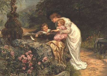 Victorian artist Frederick Morgan (1856-1927) (108 работ)